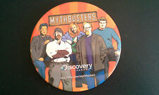 MYTHBUSTERS Pinback 4 inch Button Discover Channel Nice FREE SHIPPING