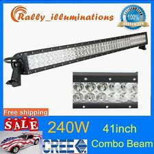 41inch 240W Cree Led Light Bar F/S Combo 20000LM Offroad SUV ATV Truck Jeep