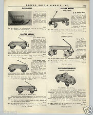 1936 PAPER AD Playboy Streamline Coaster Wagon Skirts COOL Red Racer Pedal Car
