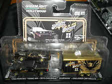 GREENLIGHT 1/64 HOLLYWOOD HITCH & TOW SERIES 1 SMOKEY AND THE BANDIT II TRANS AM
