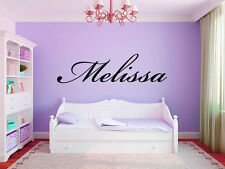 "Name Script #1 Wall Decal Monogram Girls Nursery Room Vinyl Wall Decal 3"" Tall"