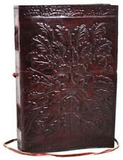 GREENMAN Blank Page BOOK Handcrafted Leather Handmade Writing Unlined JOURNAL