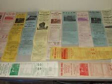Vintage Lot 1962 to 1968 Railroad Steam Engine Train Advertising Event Posters