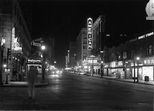 1950s Theaters and streetcar lines on Theatre Row  St Louis  8 x 10 Photograph