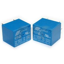 10 Pcs 5V DC SONGLE Power Relay SRD-05VDC-SL-C PCB Type