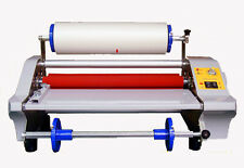 110V US 360mm Four Rollers Eight Bearings Hot and Cold Roll Laminating Machine Y