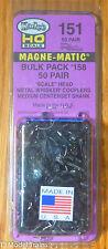 Kadee #151 Whisker 158Couplers Med CtrSet Shank 50Pair