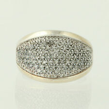 Diamond Cocktail Ring - Sterling Silver Chunky Statement Half Carat Size 5-5.5