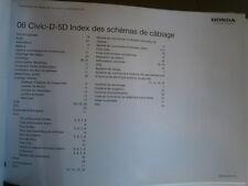 Honda CIVIC D (D5-D) 2006 : schémas électriques