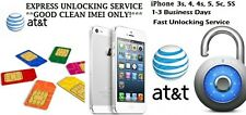 Factory Unlock Service iPhone 3s, 4, 4s,  5 AT&T FAST SERVICE 1-36 HRS INSTANT