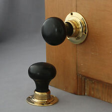 Victorian Solid Ebony Bun Door Knobs