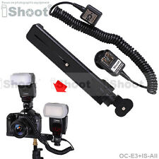 Camera Holder/Flash Bracket+2-Hot-Shoe E-TTL Cord Cable for Canon 600EX 550EX