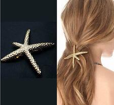 Korea Latest Design Exquisite Clip Gold Starfish Hairpin Hair Accessory 1PC
