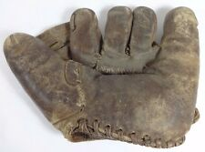 Old Antique BILL DOAK  RAWLINGS Baseball Glove with Early Repairs - 1920's