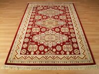 Burgundy Gold Traditional Persian Tribal Design Shiny Rug Large 160x230cm 50%OFF