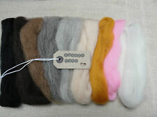 40g-9 colours for needle felting/felting wool tops/roving/spining/ weaving