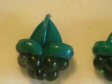 Vintage Three Plastic Dark Aqua Blue Buttons Cone shaped with Bubble Grapes (an)