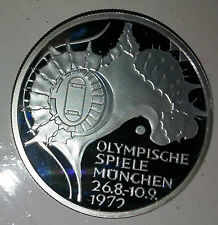 Munich 1972 Olympic Game Coin German Silver Stadium Old Seventies Retro Vintage