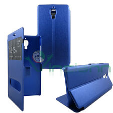 Custodia ALL VIEW cover BLU rigida per Xiaomi Mi4 Mi 4W finestra mod lucido Mi 4