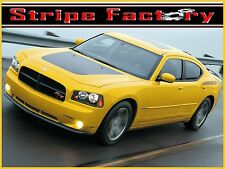 DODGE CHARGER 2006-2010 SOLID HOOD BLACKOUT FACTORY STRIPE DECAL GRAPHIC KIT