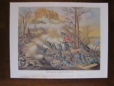 1979 Kurz & Allison (15 x 13) Civil War Print- Battle of Lookout Mountain Tenn