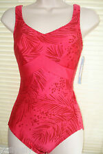 Anita Care Mastectomy Swimsuit Cherry Red UK Size 30B BNWT