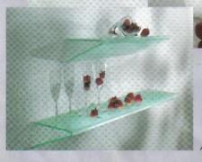cooles Design Doppel Glas Wand REGAL m. Edelstahl Bef.*60x18 **Angolo***2te.Wahl
