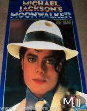 MICHAEL JACKSON MOONWALKER THE GAME USA PROMO POSTER RARE 1989! MINT/ NO BAD CD