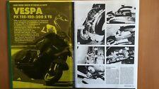 COPIA SERVIZIO MOTOCICLISMO MANUTENZIONE SCOOTER Vespa PX 125 - 150 - 200 E & T5
