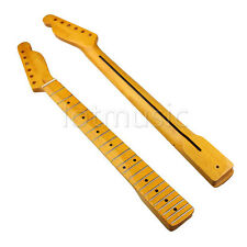 Light Yellow Electric Guitar Neck For TL Replacement Maple Rosewood Inlay Back