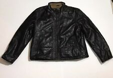 Men's Columbia Brown Sherpa Bomber Leather Jacket Size XL *Excellent Condition*