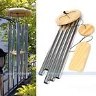 Wind Chime Windchime 5 Metal Tubes Wood Stricker Home Garden Chapel Decor Gift