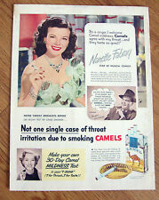 1950 Camel Cigarette Ad Nanette Fabray Star of Musical Comedy