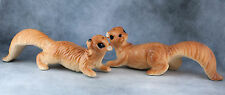 Vintage Ceramic Squirrel Salt and Pepper Shakers 5.25 Inches Long
