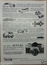 "U.S. Camera Magazine Ad (Dec. 1960) The ""New"" ALPA 6c 35mm Camera"