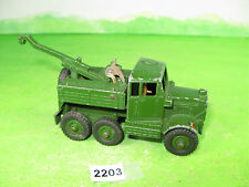 vintage dinky toys military diecast 661 recovery tractor 204gm 2203