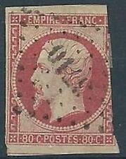 1853-60 FRANCIA USATO NAPOLEONE III EMPIRE FRAN 80 CENT - EDF211