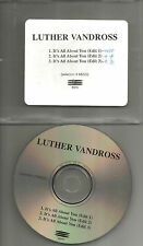 LUTHER VANDROSS It's All About you w/ 3 RARE EDITS PROMO DJ CD single 1998 USA