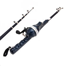 Telescopic Spinning Casting Pole Saltwater Sea Fishing Rods Rod + Spinning Reel