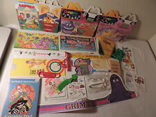 OLD MCDONALDS SOUVENIRS COLLECTIBLES PAPERS TOYS GRIMACE HAPPY MEAL CRAYOLA LOT