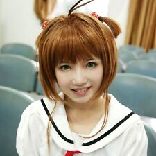 Cute Anime Cosplay Full Wig Card Captor Sakura Kinomoto Sakura Short Brown Hair