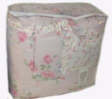 SIMPLY SHABBY CHIC TWIN COMFORTER Misty Pink Roses Floral Cottage  COTTON Ruffle