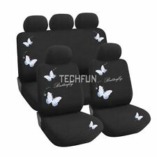 TRUYOO Butterfly 9PC Universal Car Vehicle Seat Cover Protector Set