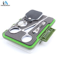 Fly Fishing Tools Fishing Accessory Forceps & Retractor & Nipper&Fly Box & Flies