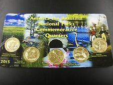 2015 Complete Set of National Parks 24kt. Gold Plated Quarters in a Holder