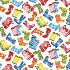 PUDDLE JUMPERS GUMBOOTS WELLINGTONS RAINBOOTS FABRIC