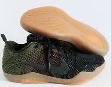 Nike Kobe XI 11 Elite Low 4KB Black Horse Oliver Green Gum sz 7.5 [824463-063]
