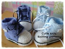 KNITTING PATTERN no 1 To knit baby / reborn doll baseball booties (INSTRUCTIONS)