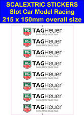 Scalextric Slot car sticker Model Race TAG Heuer W Logo decal adhesive vinyl