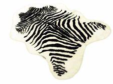 Decorativer schöner Zebra Teppich Afrika Gefühle 1.50 x 1.00 m Kunstfell